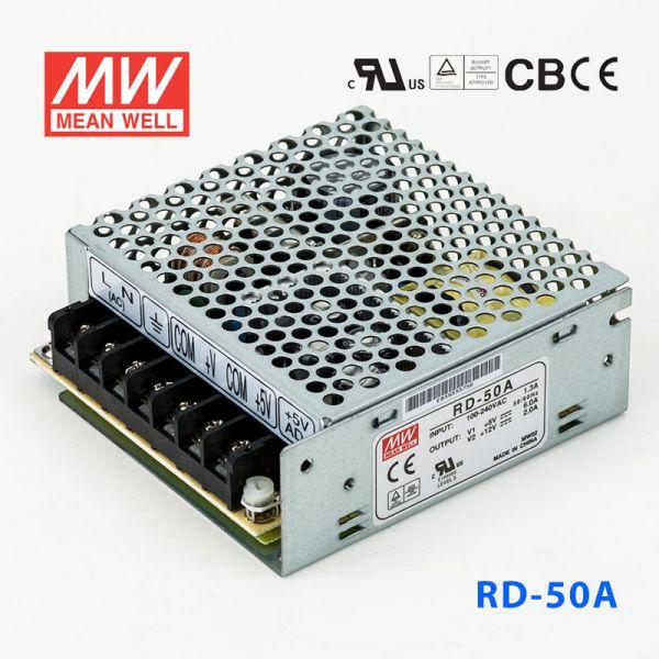 明纬开关电源RD-50A 50W +5V 6A +
