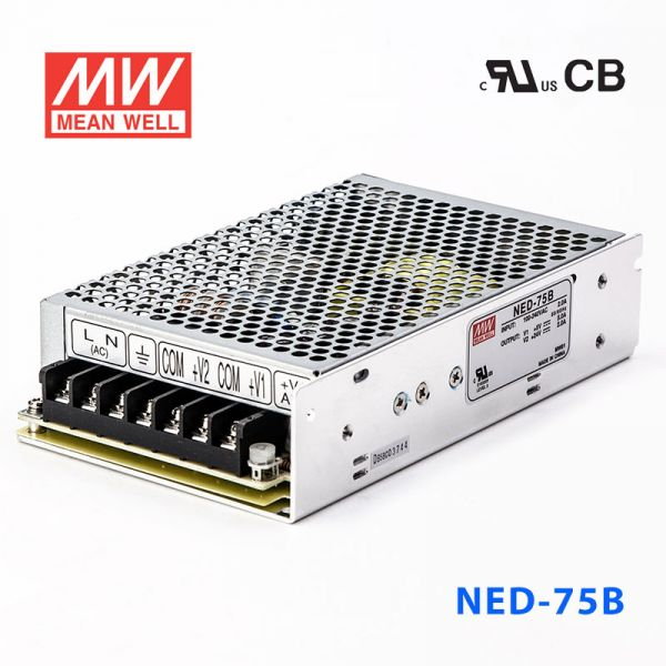 NED-75B 75W 5V 6A +24V 3A双路输出明