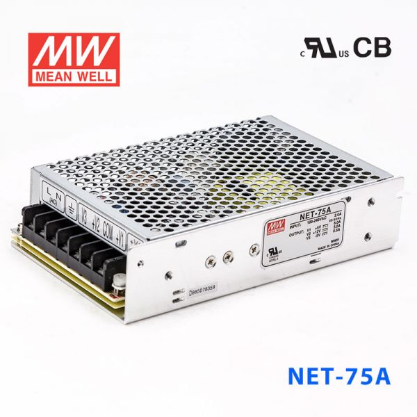 NET-75A/B/C/D 75W +5V/12V/15V/2V三路输