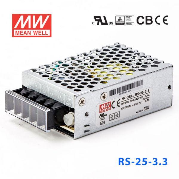 RS-25-3.3/5/12/15/24/48 15W 单路输出
