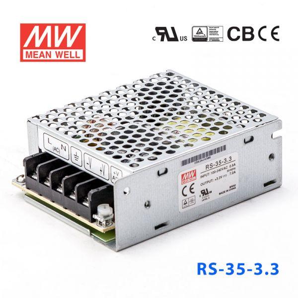 RS-35-3.3/5/12/15/24/48 35W 单路输出