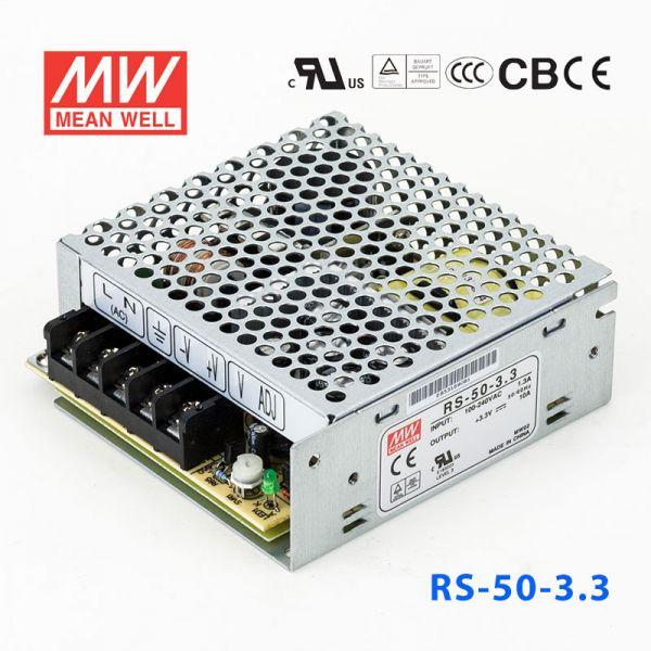 RS-50-3.3/5/12/15/24/48 35W 单路输出