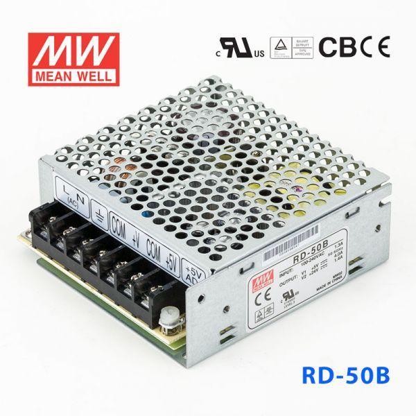 明纬开关电源RD-50B 50W +5V 6A +