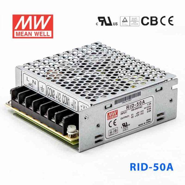 明纬开关电源RID-50A 50W +5V 6A
