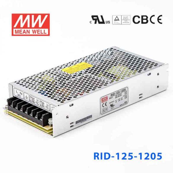 明纬开关电源RID-125-1205 125W +