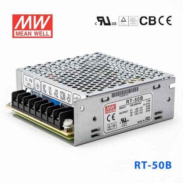 明纬电源RT-50B 50W +5V5A 12V2.5A