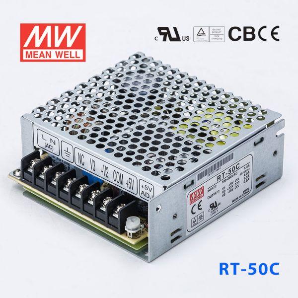 明纬电源RT-50C 50W +5V5A +15V2A -