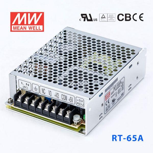 明纬电源RT-65A 65W +5V8A +12V3.5A