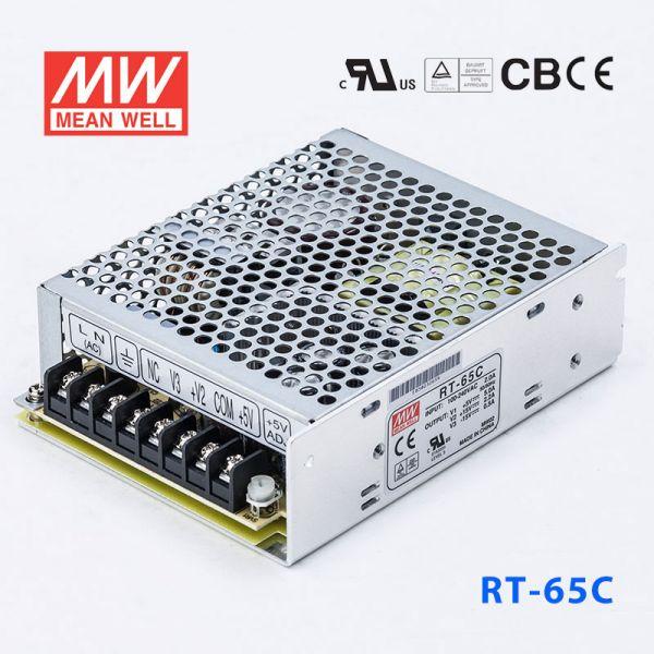 明纬电源RT-65C 65W +5V8A +15V3A -