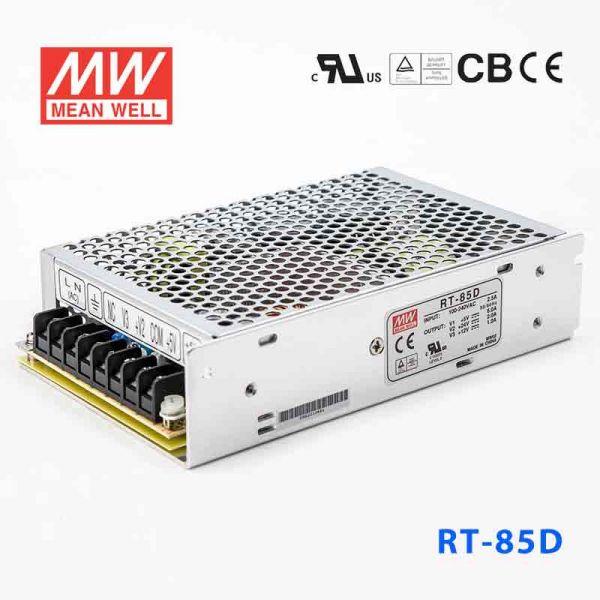 明纬电源RT-85D 85W +5V10A +24V2.5