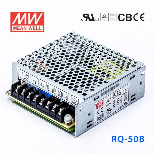 RQ-50B 50W +5V6A +12V1.5A -5V1A -12V1