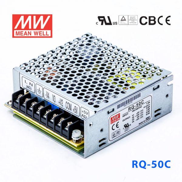 RQ-50C 50W +5V6A +15V1.5A -5V1A -15V1