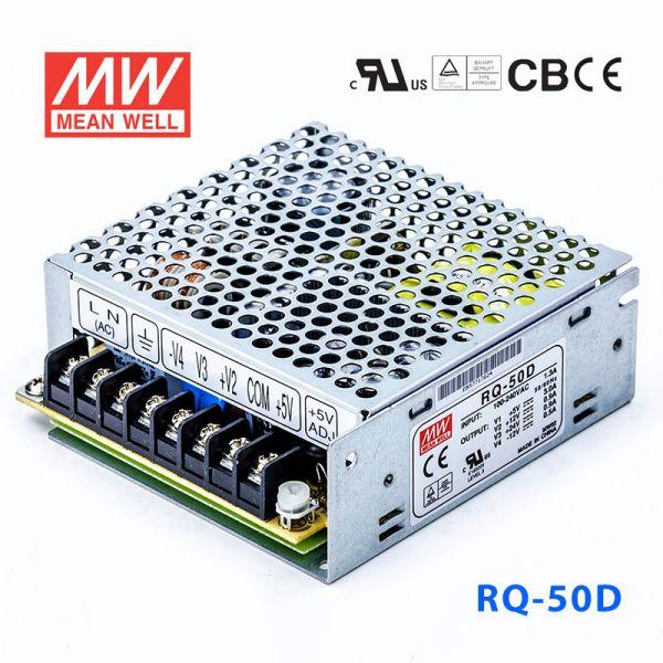 RQ-50D 50W +5V6A +12V1.5A +24V1A -12V